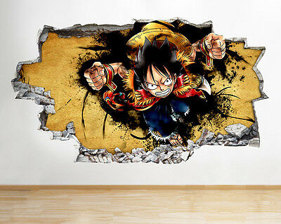 Wall Stickers Cool Cartoon Boys Bedroom Smashed Decal 3D Art Vinyl Room C259