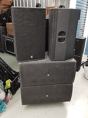 "6x OUTLINE DVS 15P 15"" Professional PA Speakers Made In Italy"