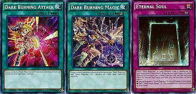 ETERNAL Soul + Dark Burning Magic + Dark Burning Attack LDK2 3-Secret Promos set