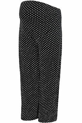 YoursClothing Plus Size Womens Bump It Up Maternity Polka Dot Palazzo Trousers