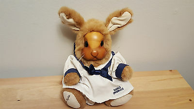 Robert Raikes Originals Bunny Rabbit Betsy Ann Wood Face Carved Doll