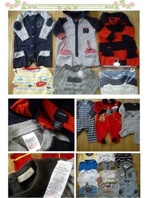 65x WINTER NEW USED BUNDLE OUTFITS BABY BOY 3/6 MTHS 6/9 MTHS (8.5)