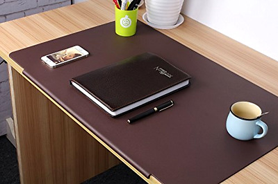 "Desk Mat Pads Laptop Keyboard and Mouse Pad Large Size 27.5"" x 17.7"" Brown ."