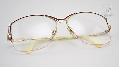 Original 80s Vintage CAZAL 222 Half-Frame Brille Butterfly W.GERMANY 57-14 M NOS