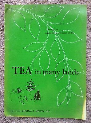 "Vintage Lipton Tea Ed Pamphlet ""Tea in Many Lands""/8.5"" X 11.75""/TJ Lipton Inc."