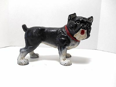Vintage Hubley 'Solid Cast Iron English Bull Dog Door Stop