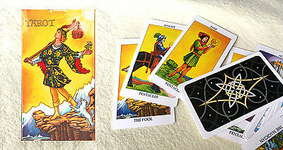 Vintage Rider Waite Tarot Cards Deck New 78 Set Radiant English full Version