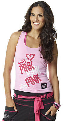 ZUMBA Fitness Party in Pink Komen racerback tank top millenial pink size S NWT