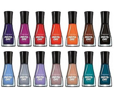 SALLY HANSEN INSTA-DRY Fast Dry Nail Polish CHOOSE YOUR COLOR New ...