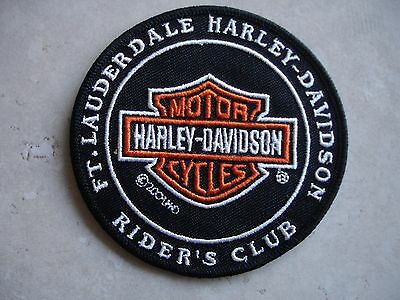Harley Davidson  Bar & Shield Ft Lauderdale Riders Club Embroidered Sew On Patch