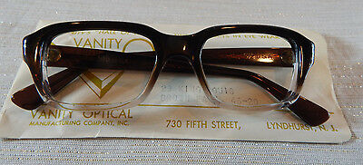 Vintage Vanity Opt King Louis Brn Fade 46/22 Men's Eyeglass Frame New/Old Stock