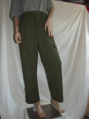British Army Issue Lightweight Olive Green Trousers