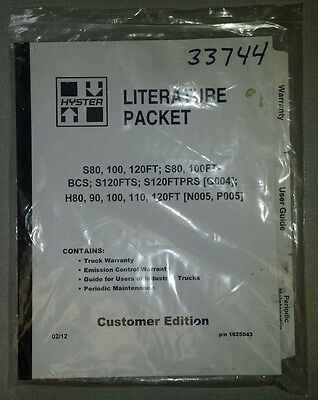 2012 Hyster Maintenance Manual S80, S120, and H80-120 (Inv.33744)