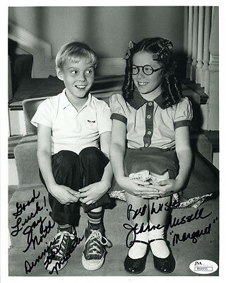 """(SSG) """"DENNIS THE MENACE"""" Signed 8X10 Combo Photo with a JSA (James Spence) COA"""