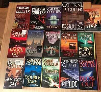 Lot of 15 (one book is 2 in 1=16) Catherine Coulter FBI Series