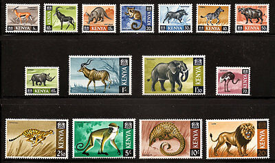 Kenya 20-35 (Missing 31) Xxlh Animal Set,  Free Shipping In Usa