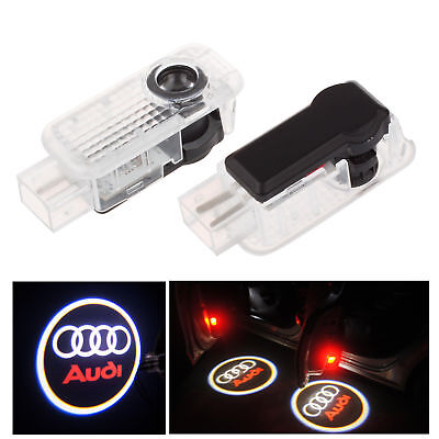 2pcs For AUDI Car Door LED Ghost Shadow Light Logo Projector Laser Courtesy Lamp