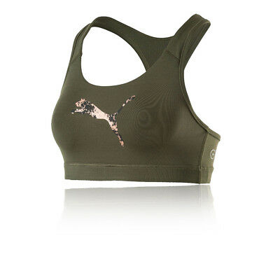 Puma PWRSHAPE Forever Womens Green Running Sports Bra Support Top