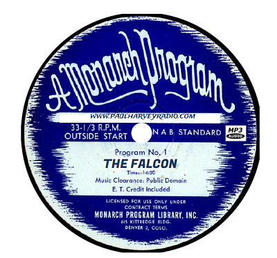 The Falcon (88 Shows) Old Time Radio Mp3 Cd
