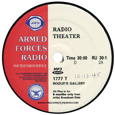 Rogue's Gallery (25 Shows) Old Time Radio Mp3 Cd
