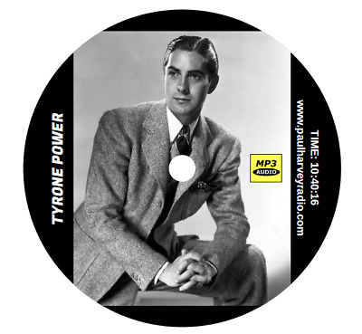 Tyrone Power Collection (16 Shows) Old Time Radio Mp3 Cd