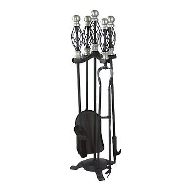 Jumbuck 4 Piece Fire Accessory Tool Set With Stand