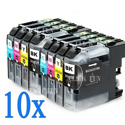 10x LC233 LC-233 BCMY Ink Cartridges for Brother MFC-J5320DW MFCJ5720DW AU Stock