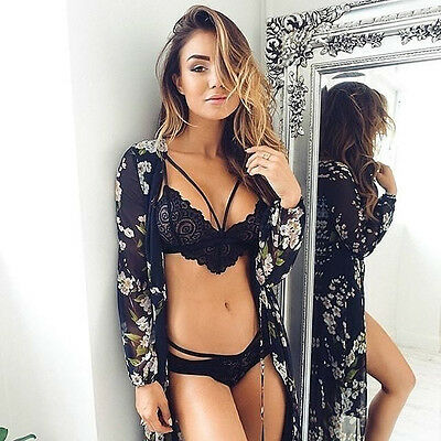 Sexy-Women's Lace Lingerie Bra Nightwear Underwear Babydoll Sleepwear USA STOCK