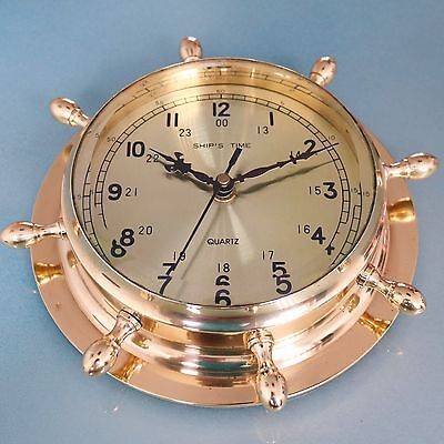 SHIP'S TIME Large TOP!! Clock Wall Nautical Germany Vintage Ship Mid Century XXL