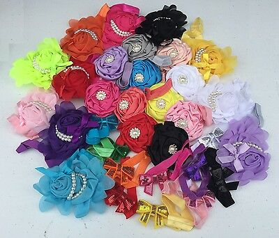 32pcs Lovely Girl Baby Toddler Infant Flower Headband Hair Bow Band Accessories