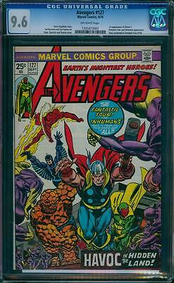 Avengers # 127  The Inhumans - Havoc in the Hidden Land !  CGC 9.6 scarce book !