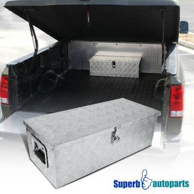 "30""x13""x10"" Pickup Truck RV Tool Box Underbody Storage Under Bed Trailer w/Lock"