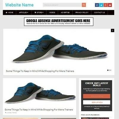MENS SHOES STORE - Established Online Business Website For Sale Mobile Friendly