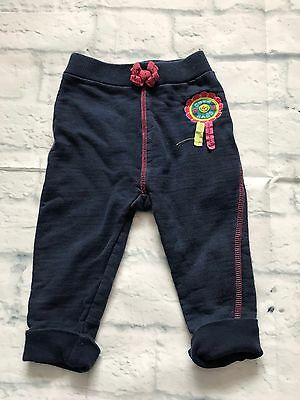 Baby Girls Clothes 9-12 Months - Cute Blue Joggers Trousers -