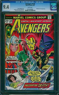 Avengers # 139  The Whirlwind :  Prescription : Death !  CGC 9.4 scarce book !