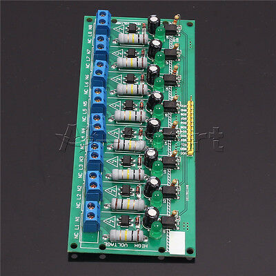 AC 220V Optocoupler Isolation Voltage Test Board 8 Channel MCU TTL for PLC