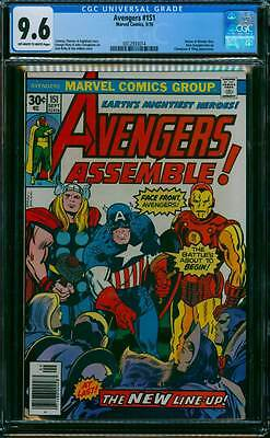 Avengers # 151  The Battle's About to Begin !  CGC 9.6 scarce book !