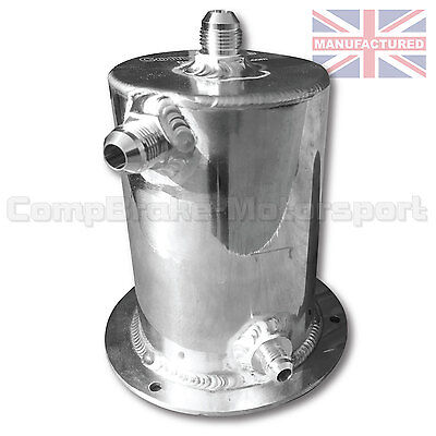 Bulk Head Mount 2 Ltr Fuel Swirl Pot with JIC Fittings Rally Race Drift OBPA030J