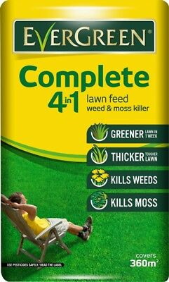 EverGreen Complete 4 In 1 Lawn Care Bag + 10 Percent Free Covers 400m2