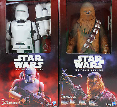STAR WARS Figur Actionfigur Chewbacca Flametrooper The Force Awakens 30 cm groß