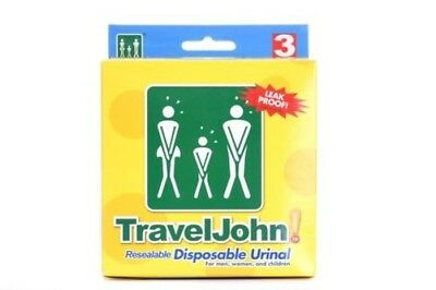 TravelJohn Resealable Disposable Travel Urinal Toilet Unisex Festivals Camping