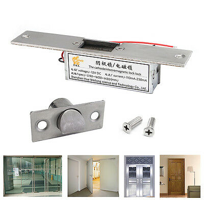 12V Electric Strike Lock Fail Safe NC Cathode For Access Control Wood Metal Door
