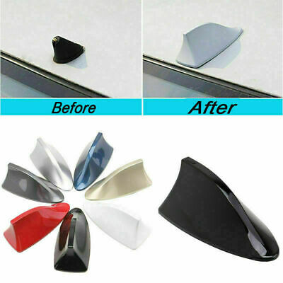 Universal Car Roof Radio AM/FM Signal Shark Fin Aerial Antenna Fit BMW VW SUV