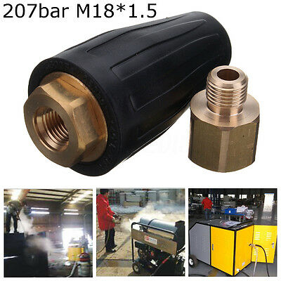 3000 PSI 207bar High Pressure Washer Spray Rotating Jet Cleaner Tip Turbo Nozzle