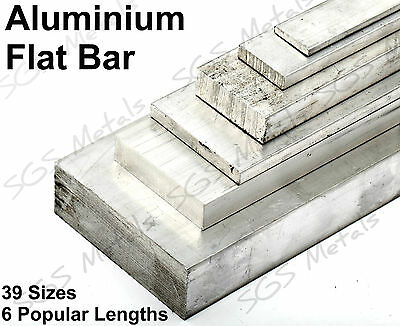 ALUMINIUM FLAT BAR 39 Sizes Available & 6 lengths to choose from Sheet Plate