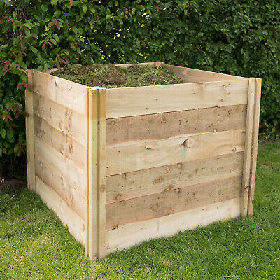 Forest Slot Down Compost Bin Pressure Treated Timber 650L 3FT x 3FT