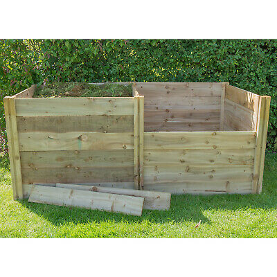 Forest Slot Down Compost Bin Extenson Kit Pressure Treated Timber  3FT x 3FT