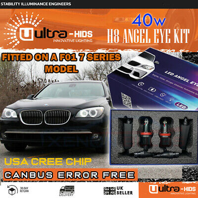 * BMW 7 SERIES F01/F02 Xenon White LED Angel Eyes Rings Marker Kit 20W H8 Rings