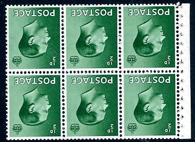 1936 ½d Green Booklet Pane Inverted Watermark Sg Spec PB1a UNMOUNTED MINT V75190