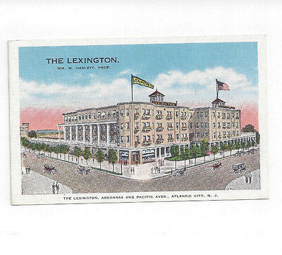 NJ Atlantic City New Jersey antique post card Lexington Hotel view
